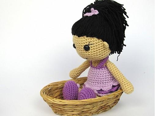 Háčkovaná bábika Anežka - návod