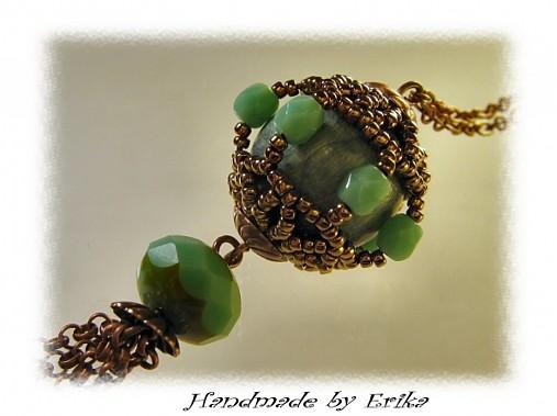 Turquoise + copper - náhrdelník