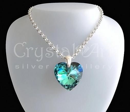Strieborná retiazka   CrystalArtJewellery - SAShE.sk - Handmade Iné ... 5c6bc8a3191