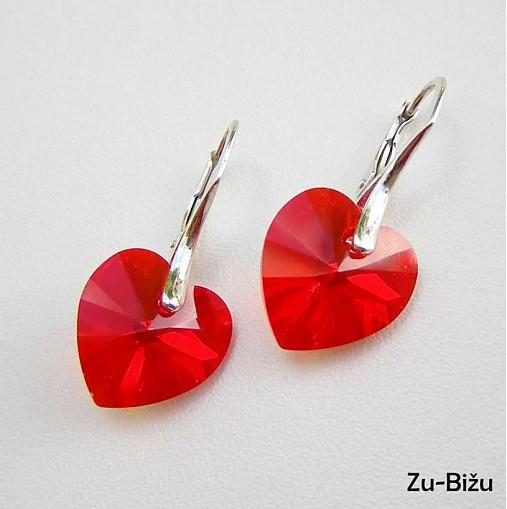 Strieborné náušnice Červené srdcia   zu - SAShE.sk - Handmade Náušnice 111c2a047ec