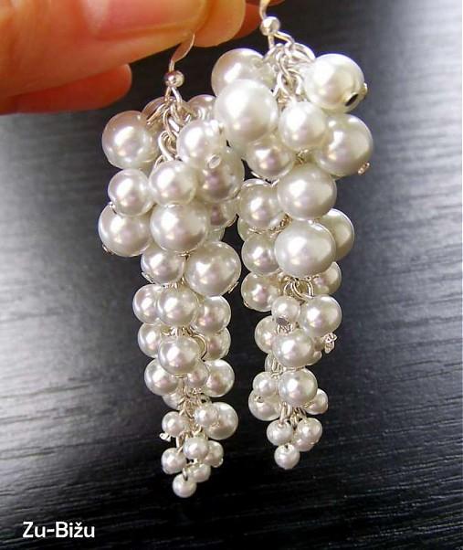 Perličkové náušnice   zu - SAShE.sk - Handmade Náušnice 2d2a009841e