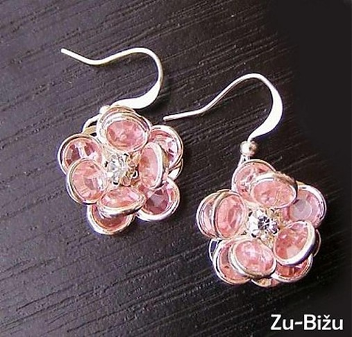 Ružové kvietky   zu - SAShE.sk - Handmade Náušnice 176f1c697c8