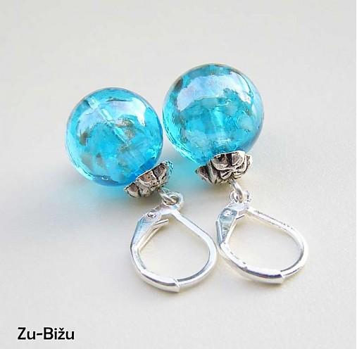 Modré vinutky   zu - SAShE.sk - Handmade Náušnice 3c50637235d