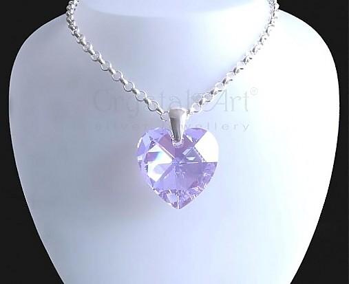 Veľké Swarovski srdce v striebre   CrystalArtJewellery - SAShE.sk ... 4c70e7a5452