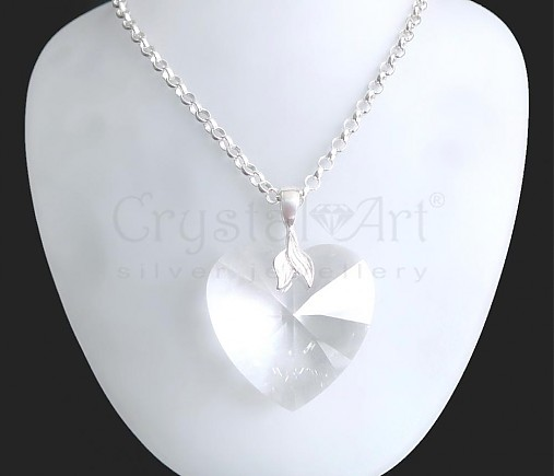 Veľké Swarovski srdce v striebre-AKCIA   CrystalArtJewellery - SAShE ... ee0013cd15a