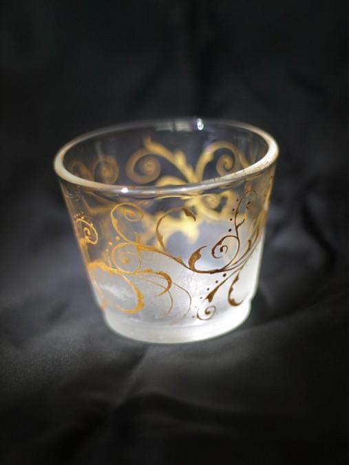 Svietnik na čajovú sviečku - Golden ornament