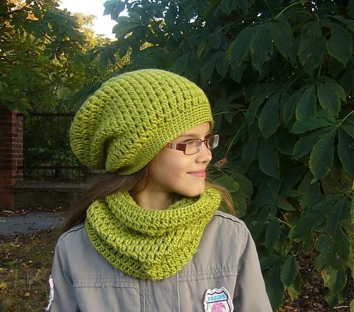 9a0a91f66 Predĺžená čiapka - zelená / vikvik - SAShE.sk - Handmade Čiapky