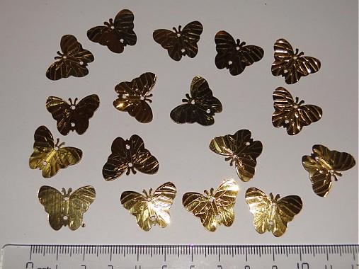 Flitre motýlik 18x22mm-20ks (zlatá)