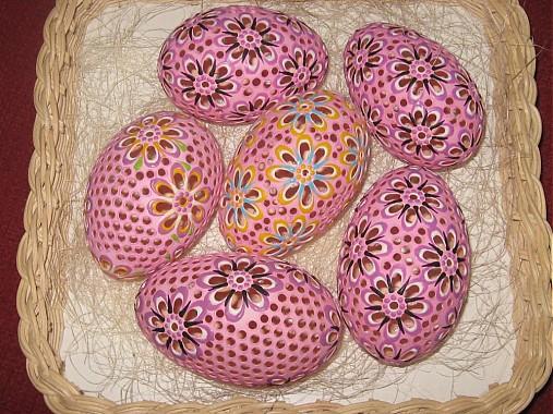 husacie kraslice ružové
