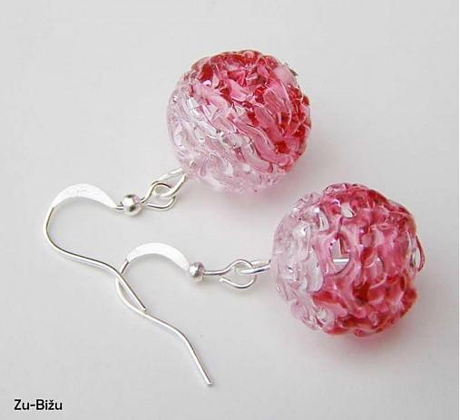 Ružové vinutky   zu - SAShE.sk - Handmade Náušnice b8aea1addc8