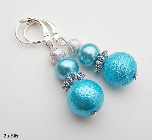 Modré perličky   zu - SAShE.sk - Handmade Náušnice 08da89d5079