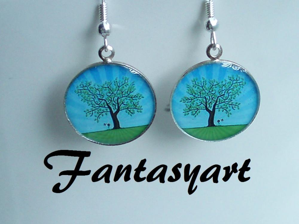 Strom na lúke   fantasyart - SAShE.sk - Handmade Náušnice 700b8cf889