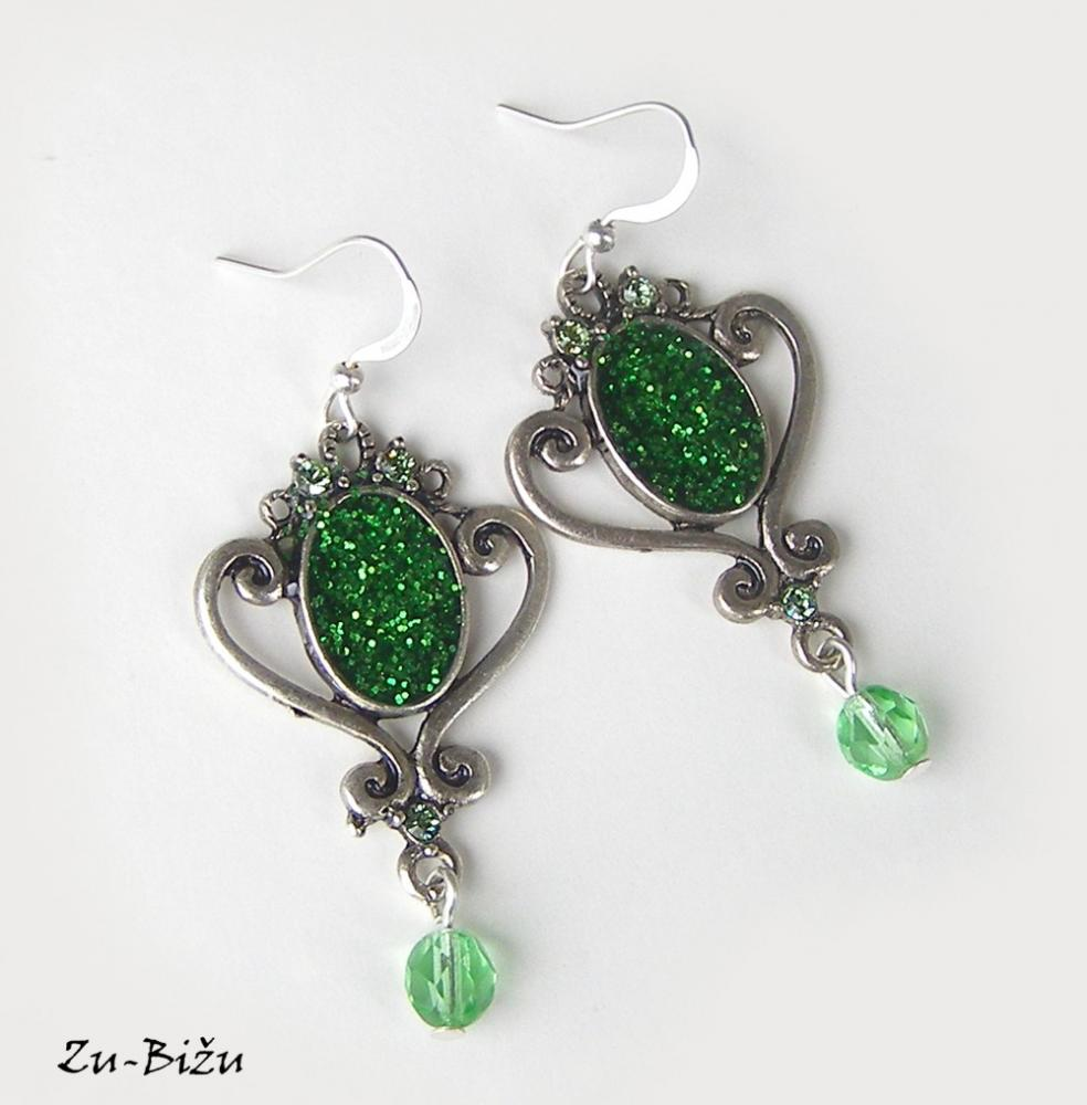Zelené   zu - SAShE.sk - Handmade Náušnice 97dc2418cb5
