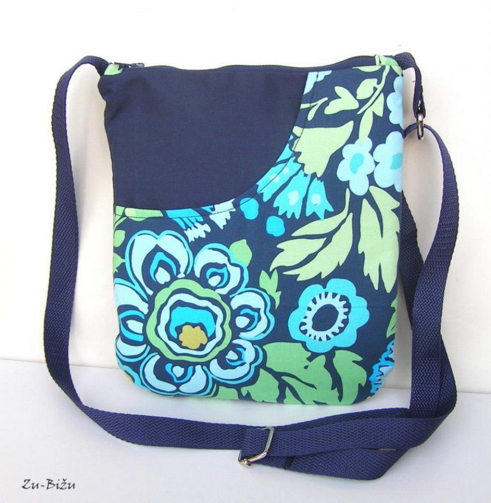 LETNÁ ZĽAVA ---POSLEDNÝ KUS Modrá kabelka   zu - SAShE.sk - Handmade ... c35a3ae4718