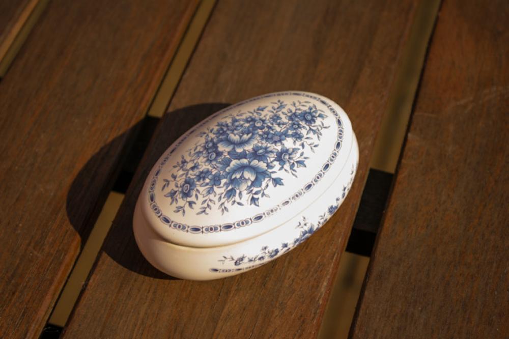 Šperkovnica oválna veľká - Royal blue