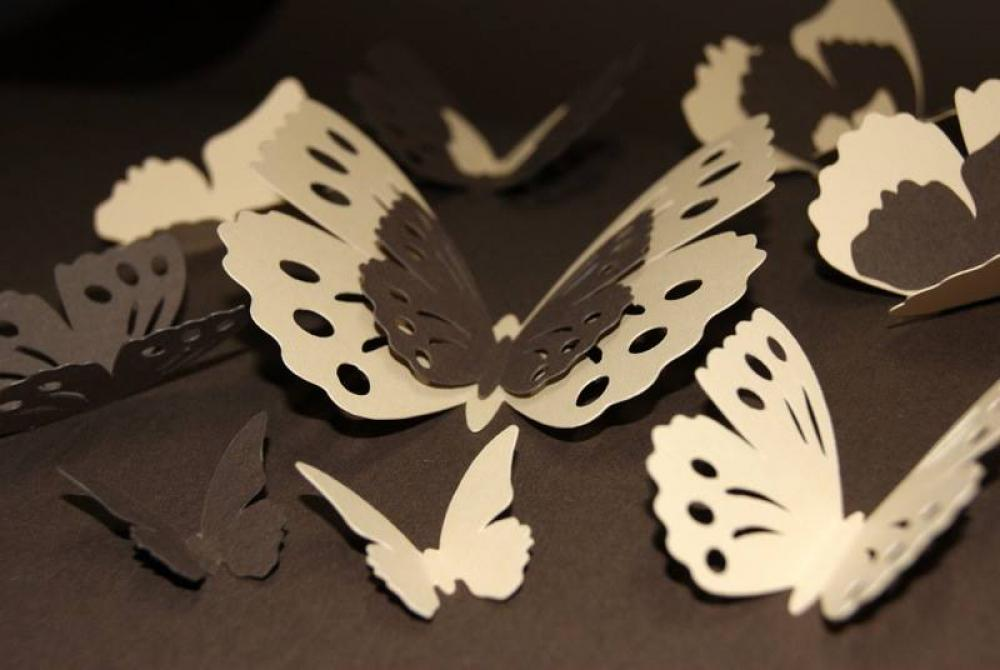 3D Krémové a hnedé motýle (105pl)   artsablony - SAShE.sk - Handmade ... 95e1e0a0e8c