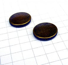 Korálky - kovová korálka 2,4 cm/ 1 ks - 1000079