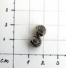 Korálky - kovová korálka priemer 8 mm/ 1 ks - 1001752