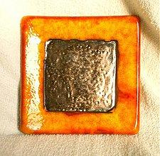 Svietidlá a sviečky - svietnik oranžový - 1003876