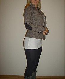Kabáty - Dámske sako  so záplatami rôzne farby - 1008427