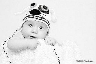 Detské čiapky - čiapočka pre bábo - 1010348