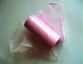 Galantéria - organzová stuha 11cm detská ružová - 1010427