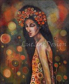 Obrazy - Iba žena - štylizovaný portrét - 1021755