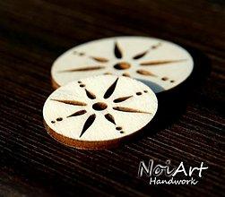 Materiál ručne robený - Základ kruh s ornamentom 3 cm - 1023681