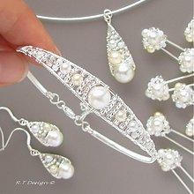 Náramky - Svatební náramek... - 1025049