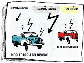 Drobnosti - Nad Tatrou sa blýska nálepky 8ks - 102686