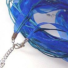 Komponenty - Náhrdelník organzový  (Kráľovská modrá) - 1030403