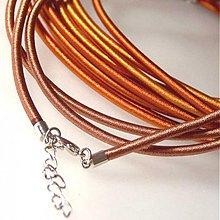 Komponenty - Hodvábny náhrdelník 3mm (Hnedý2) - 1030457
