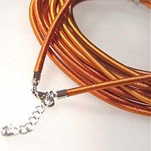 Komponenty - Hodvábny náhrdelník 3mm (Medená) - 1030464