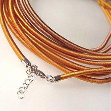 Komponenty - Hodvábny náhrdelník (Medená svetlá) - 1030469