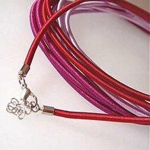 Komponenty - Hodvábny náhrdelník 3mm (Bordový) - 1030475