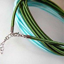 Komponenty - Hodvábny náhrdelník 3mm (Tmavozelená) - 1030484