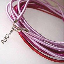 Komponenty - Hodvábny náhrdelník 3mm (Perlovofialový) - 1030491