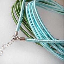 Komponenty - Hodvábny náhrdelník 3mm (Perlovo tyrkysový) - 1030499