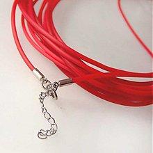 Komponenty - Silikónový náhrdelník (Červený) - 1030524