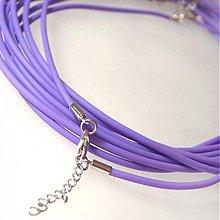 Komponenty - Silikónový náhrdelník (Fialový) - 1030569