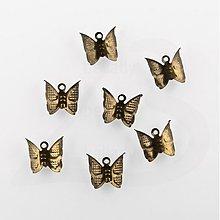Komponenty - PRI528, PRÍVESOK Motýľ StaroBRONZ /10ks - 1031644