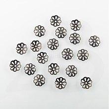 Komponenty - KAP489, KAPLÍK Kvetina ČIERNY /20ks - 1032865
