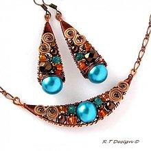 Náhrdelníky - Náhrdelník Turquoise spiral... - 1034970
