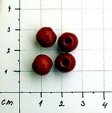 Korálky - drevené korálky 8 mm/ 10 ks - 1040772
