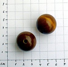 Korálky - drevená korálka 2,2 cm/ 1 ks - 1043580