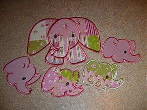 Materiál ručne robený - slonia rodinka - 1043900