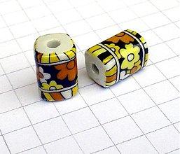Korálky - porcelánová 19 mm/ 1 ks - 1046250