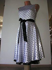 Šaty - Saténové šaty ve stylu 50. let - 1046985