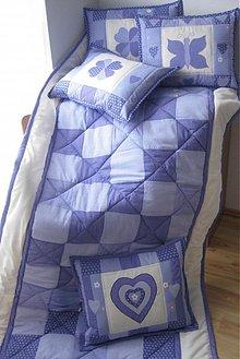 Úžitkový textil - prikrývka fialová - 1049941