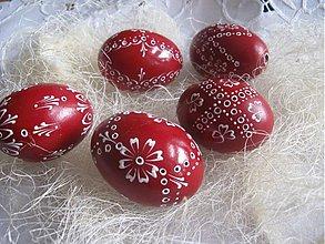 Dekorácie - Kraslica madeira červena - 1053582